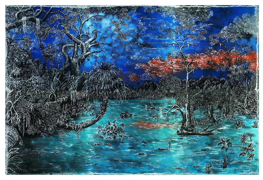 The Great Florida Marsh #2 - After Martin Johnson Head