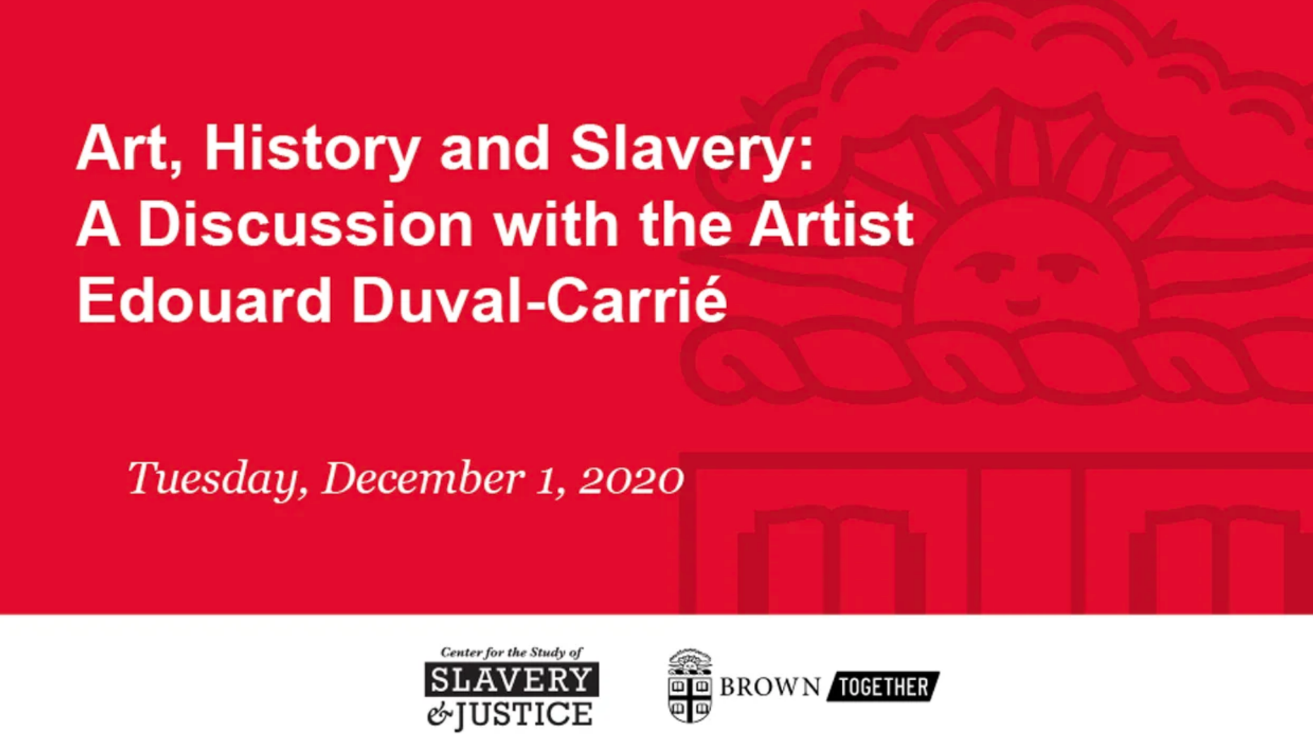 Art History and Slavery: A Discussion with the Artist Edouard Duval-Carrié